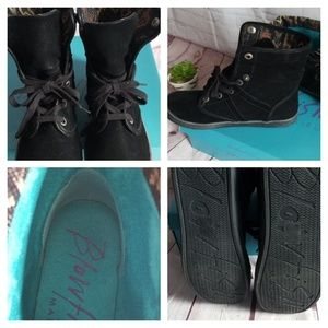 Blowfish Shoes - NWB BLOWFISH MALABU BLACK SUEDE BOOTS.